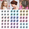 New Women Girls Crystal Flower Hair Claws Shiny Butterfly Hair Clips Hairpins