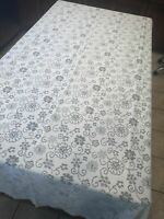 """Vintage Off White Lace Floral Pattern Rectangular Home Decor Tablecloth 59""""x102"""""""