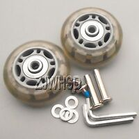 """Luggage Suitcase Replacement Wheels OD 60 (2.36"""") ID 6 W 22 Axles 30 Repair Set"""