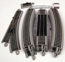 Bachmann HO Scale EZ Train Track, Switch, Bumpers Nickel Silver w Gray Roadbed