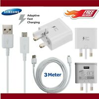 Fast Charger Adapter & USB Charging Cable For Samsung Galaxy Phones
