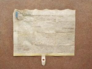 1699 Coton in the Elms Derbyshire 17th century Vellum Deed Document Indenture