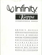 Infinity Kappa/60 70 80 90 100 centre B rear/Manual BDA manuel d'utilisation