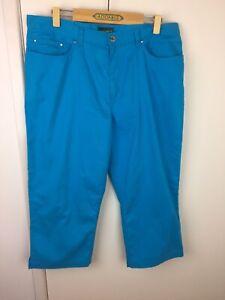 Ralph Lauren Blue Cropped Jeans Size 16 E U C