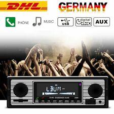 RETRO AUTORADIO AM/FM BLUETOOTH FREISPRECHEINRICHTUNG USB SD AUX-IN MP3 1DIN DHL