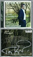 Yo-Yo Ma & Ton Koopman SIGNED simply Baroque 2 Bach Boccherini Cello Concerto CD