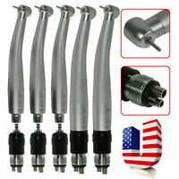 5*NSK Type Dental High Speed Push Button Handpiece + 4H Swivel Coupler USA LC