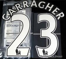 Liverpool Carragher 23 Football Shirt Name Set Lextra 2007-13 Sporting ID Home