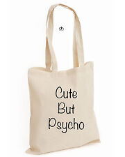 Cute But Psycho COTTON TOTE Fashion Trend Hippie Swag Dope Hype Tumblr(CUTE,BAG)