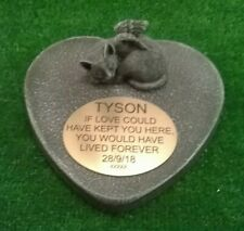 Cat Large Pet Memorial/headstone/stone/grave marker/memorial with plaque 2 ag