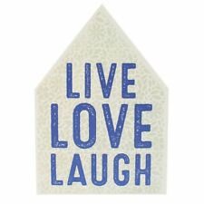 Live Laugh Love. Positive Affirmation Wooden Wall Sign. New / sealed.