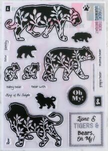 Berts and Gerts Lions and Tigers and Bears Stamp Set