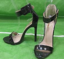 "NEW LADIES Black 5""Stiletto High Heel Open Toe Ankle Strap Sexy Shoes Size 7"