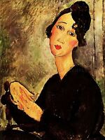 AMEDEO MODIGLIANI PORTRAIT OF DEDIE OLD MASTER ART PAINTING PRINT POSTER 171OMA