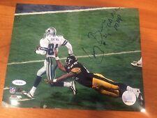 TriStar Hidden Treasures Larry Brown Dallas Cowboys 8x10 Autograph