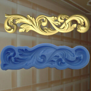 Stuck Negativform Gießform Silikonformen Gips Verzierung Dekor Relief (140)