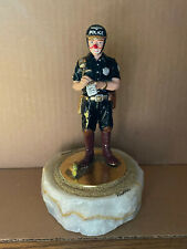 1995 Ron Lee Policeman Clown Sculpture Writing Ticket w/ Onyx Base & Beads L-442