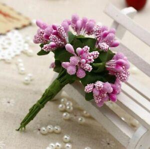 Mini Bouquet Artificial Flower Stamen Party Wedding Millinery decorationSupplies