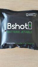 Batterie Chargeur Jetable 1000mAh Blanc pour Samsung ou micro usb bshot 30% de +