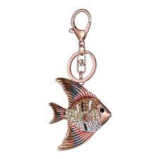 FM- Rhinestone Sea Fish Keyring Key Chain Ring Women Handbag Metal Charm _GG