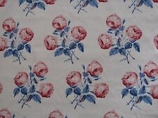 """COLEFAX and Fowler Fabric Design """"bowood"""" 6 Metres Red and Blue 100 Cotton"""