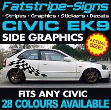 HONDA Civic EK9 DECALCOMANIE GRAFICHE STRISCE Adesivi Type R S VTEC 1.6 Jordan JAP