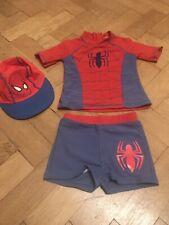 Boys Swim Sun Suit & Hat~3-4years