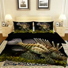 3D Seaweed Sea Fish R686 Animal Bed Pillowcases Quilt Duvet Cover Queen Kay