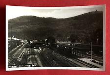 Foto AK LÖBAU um 1930 Bahnhof mit Gleisanlagen Bahnsteig ( 72745
