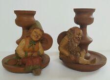 Tom Clark 1983 Gnome Mrs Wink & Wink Too Signed Vintage Candle Figurine Retired