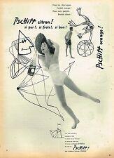 E- Publicité Advertising 1955 La Limonade Soda Pschitt avec Brigitte Bardot