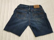 Abercrombie and Fitch Cut Off Shorts Jeans Womens Size 4R Dark Wash Button Fly