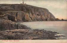 SHETLAND ISLANDS, SCOTLAND, SUMBURGH HEAD & LIGHTHOUSE OVERVIEW used 1905
