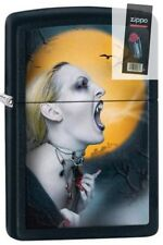 Zippo 28435 screaming vampiress black matte Lighter + FLINT PACK