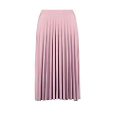 Pleated Slinky Midi Skirt