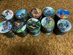 Lot of 1000+ Common Scratched Damaged Untested Video Game Discs PS1 PS2 Xbox Wii