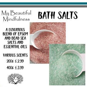 200g 400g Bath Salts Scented Dead Sea & Epsom Salts Magnesium Resealable Bags