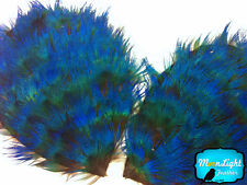 1 Piece - Iridescent Blue Peacock Plumage Feather Pad Millinery Wedding Costume