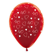10 x Ruby Wedding 40th Anniversary Balloons Helium or air Party Decoration
