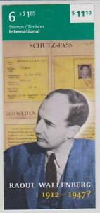 2013 Canada SC# BK 524-Raoul Wallenberg-booklet of 6-M-NH