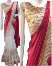Bollywood Indian Ethnic Saree Pakistani Designer Sari Wedding Party Wear Saree
