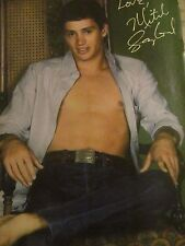 Mitch Gaylord, Shirtless, Charlie Sheen Chad Lowe Double Full Page Vintage Pinup