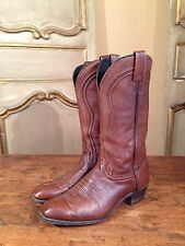 """Vintage Mens J Chisholm Cowboy Western Boots Size 9 1/2"""" EE Billy Martins Enjoy!"""