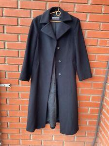 JIL SANDER woman coat Lana wool size 38 black colour Excellent condition