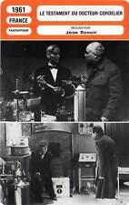 FICHE CINEMA : LE TESTAMENT DU DOCTEUR CORDELIER - Barrault,Bilis,Renoir 1961