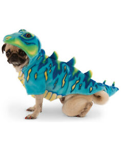 Blue Dinosaur T-Rex Pet Dog Cat Halloween Costume Hoodie Sweater