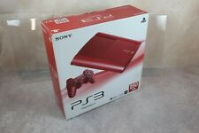 Playstation 3 Super Slim Console Red 250GB  Boxed Japan PS3 system US Seller