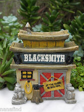 Miniature Dollhouse FAIRY GARDEN House ~ Wild West WESTERN Blacksmith ~ NEW