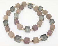 Halskette Würfelkette Kette Würfel Cube grau hellgrau dunkelgrau silber  369b