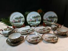Antique High Quality,Hand Painted Satsuma Tea Cup~Saucers~ Plates